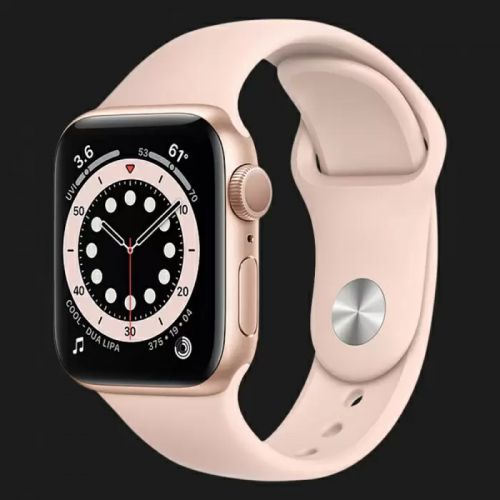 Apple Watch Series SE 44mm Gold with Pink Sand Sport Band