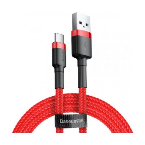 Кабель Baseus Cafule Cable USB For Type-C 3A 2m Red+Red