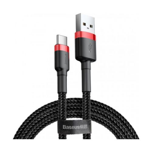 Кабель Baseus Cafule Cable USB For Type-C 2A 3m Red+Black