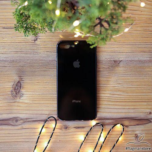 Glass Case iPhone 7/8 Plus Black