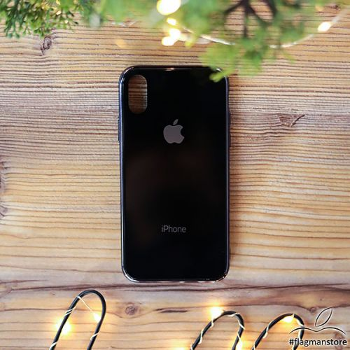 Glass Case iPhone X/Xs Black