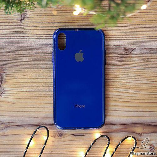 Glass Case iPhone Xr Blue