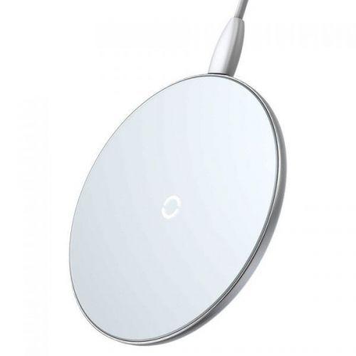 Бездротовий зарядний пристрій Baseus Simple Wireless Charger White