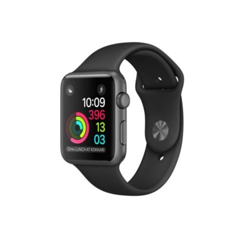 Apple Watch 42mm Series 1 Space Gray Aluminum Case with Black Sport Band (MP032)