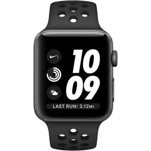 Apple Watch Nike+ 38mm Space Gray Aluminum Case with Anthracite/Black Nike Sport Band MQ162