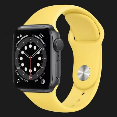 Apple Watch Series SE 44mm Space Gray with Ginger Sport Band