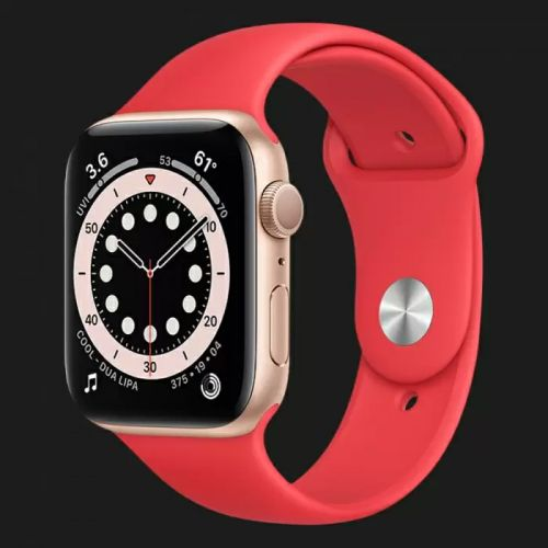Apple Watch Series SE 44mm Silver with Red Sport Band