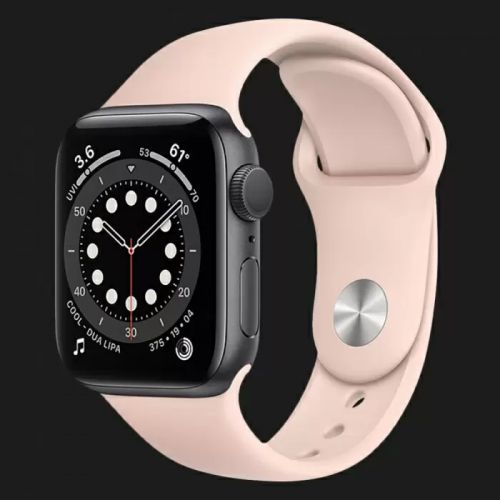 Apple Watch Series SE 44mm Space Gray with Pink Sand Sport Band