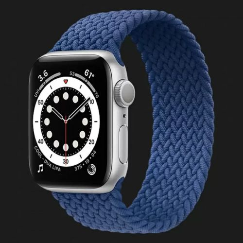 Apple Watch Series SE 44mm Silver with Atlantic Blue Braided Solo Loop
