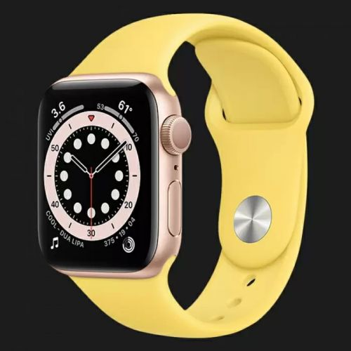 Apple Watch Series SE 44mm Gold with Ginger Sport Band