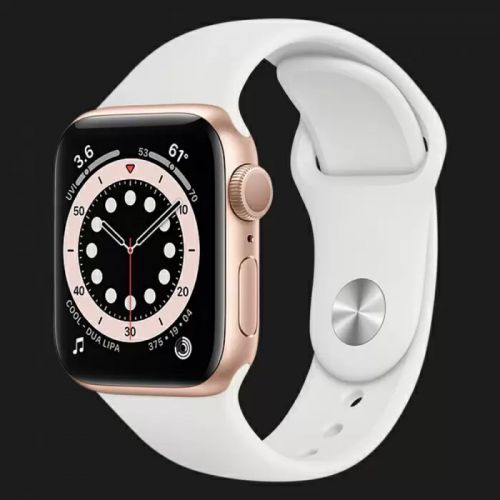 Apple Watch Series SE 44mm Gold with White Sport Band