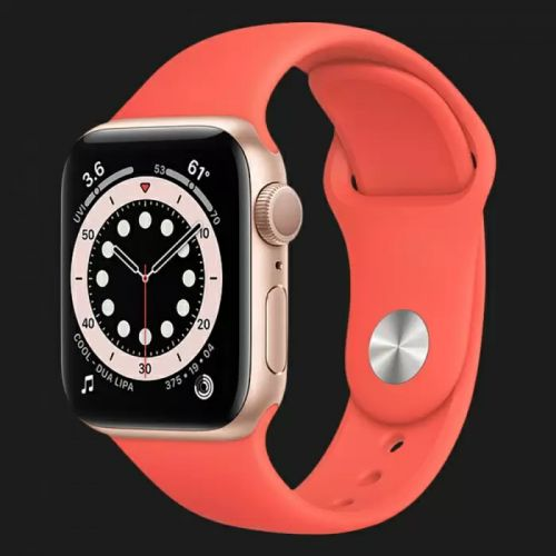 Apple Watch Series SE 44mm Gold with Pink Citrus Sport Band