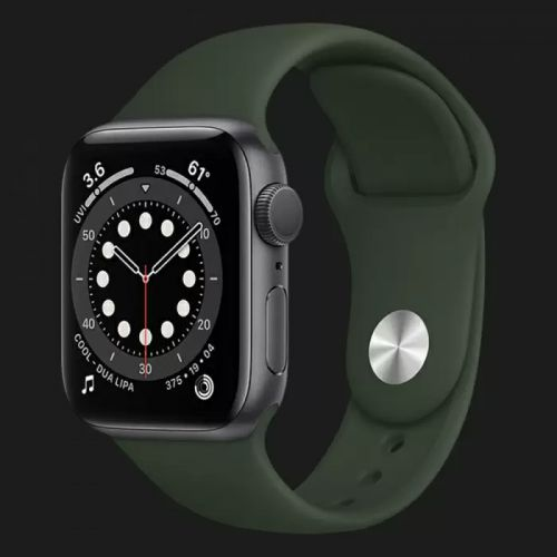 Apple Watch Series SE 40mm Space Gray with Cyprus Green Sport Band