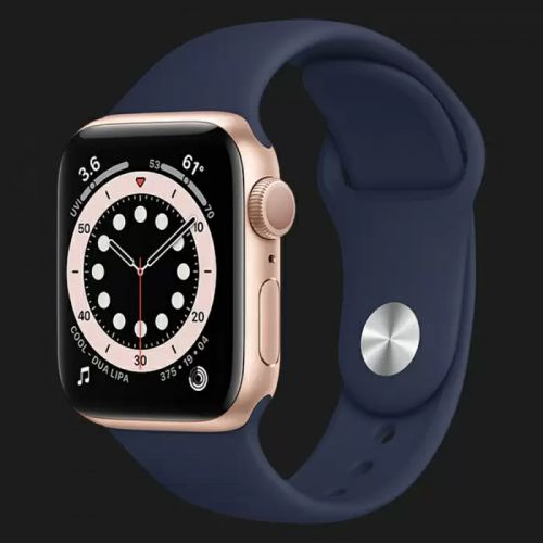Apple Watch Series SE 40mm Gold with Deep Navy Sport Band
