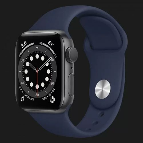 Apple Watch Series SE 44mm Space Gray with Deep Navy Sport Band