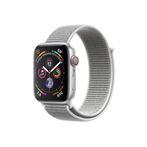 Apple Watch Series 4 GPS + Cellular 40mm Silver Aluminum Case with Seashell Sport Loop (MTUF2)