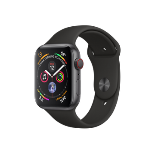 Apple Watch Series 4 GPS + Cellular 40mm Space Gray Aluminum Case with Black Sport Band (MTUG2)