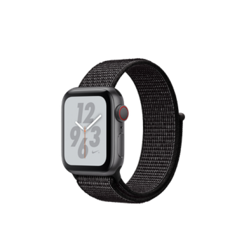 Apple Watch Nike+ Series 4 GPS + Cellular 40mm Space Gray Aluminum Case with Black Nike Sport Loop (MTX92)