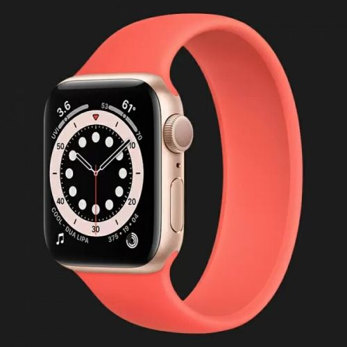 Apple Watch Series 6 44mm Gold with Pink Citrus Solo Loop