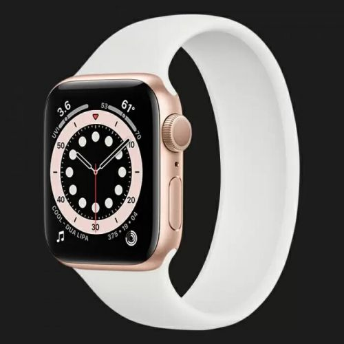 Apple Watch Series 6 44mm Gold with White Solo Loop