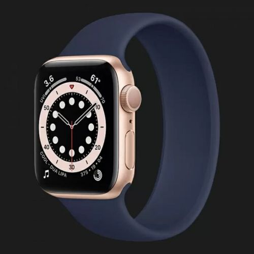 Apple Watch Series 6 44mm Gold with Deep Navy Solo Loop