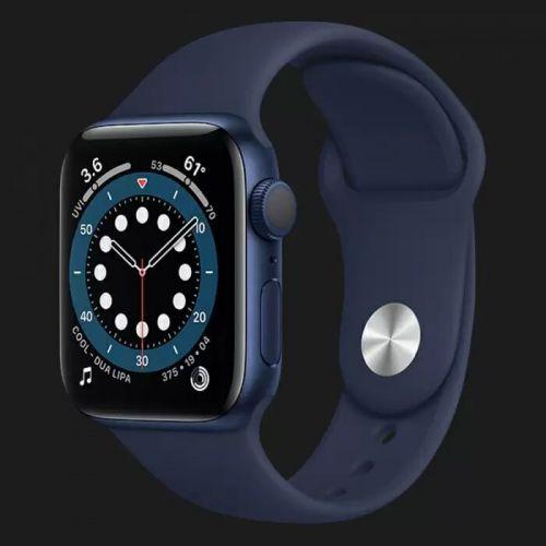Apple Watch Series 6 40mm Blue Aluminum Case with Deep Navy Sport Band (MG143)
