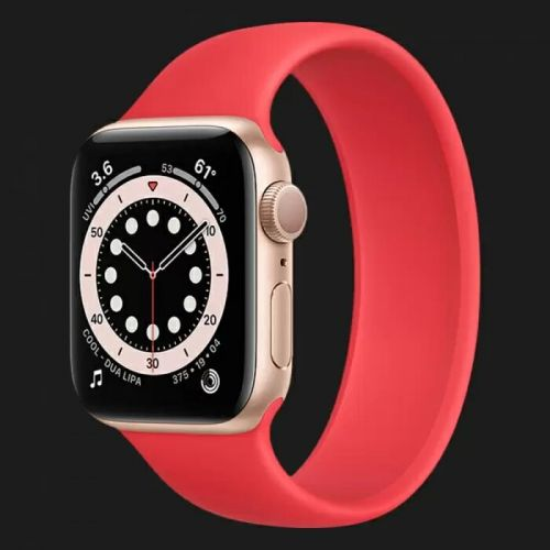 Apple Watch Series 6 40mm Gold with Red Solo Loop