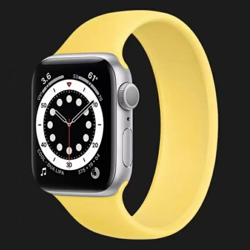 Apple Watch Series 6 40mm Silver with Ginger Solo Loop