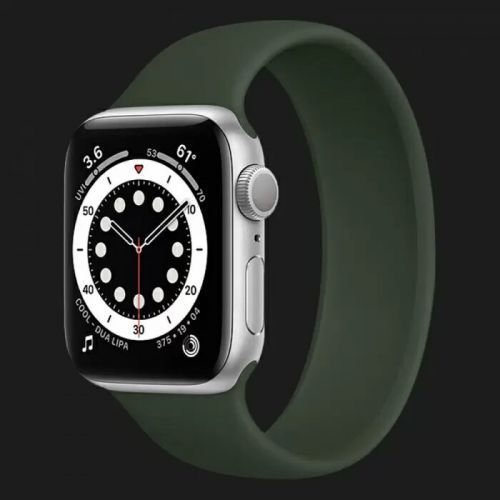 Apple Watch Series 6 44mm Silver with Cyprus Green Solo Loop