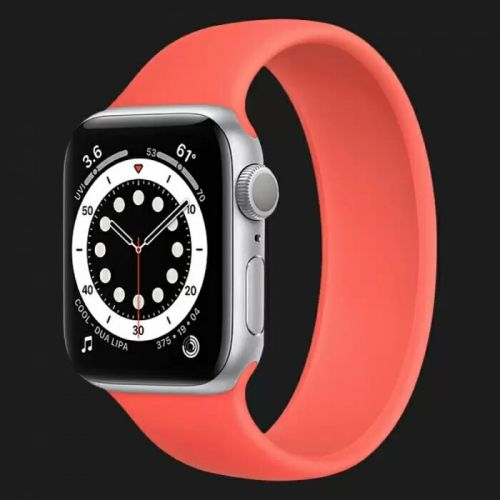 Apple Watch Series 6 40mm Silver with Pink Citrus Solo Loop