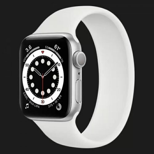 Apple Watch Series 6 40mm Silver with White Solo Loop