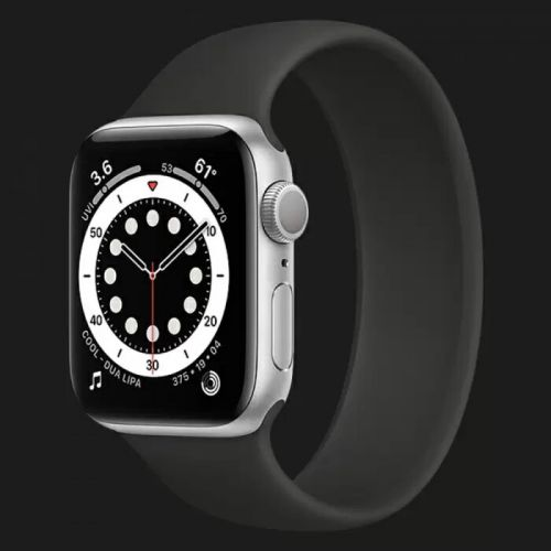 Apple Watch Series 6 44mm Silver with Black Solo Loop