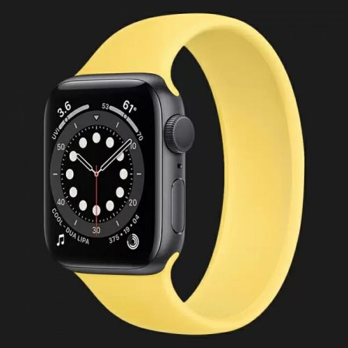 Apple Watch Series 6 44mm Space Gray with Ginger Solo Loop