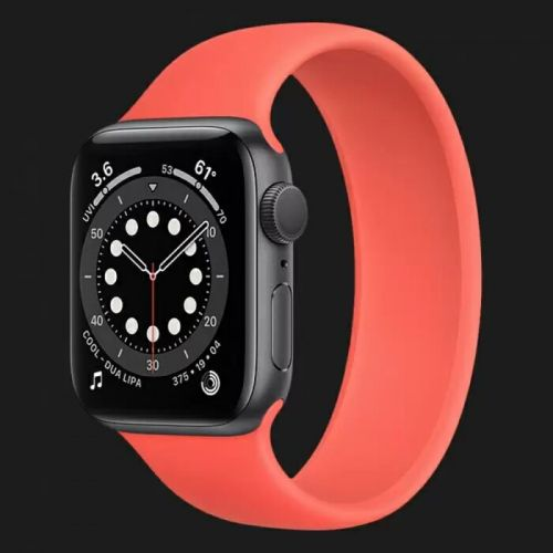 Apple Watch Series 6 44mm Space Gray with Pink Citrus Solo Loop