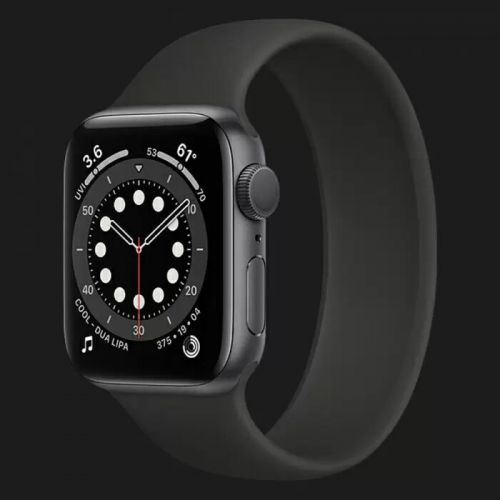 Apple Watch Series 6 44mm Space Gray with Black Solo Loop