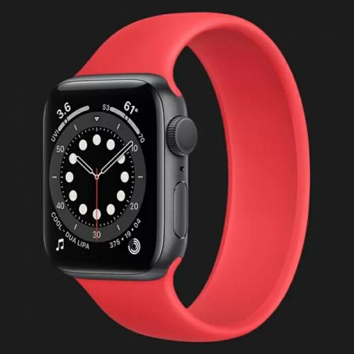 Apple Watch Series 6 44mm Space Gray with Red Solo Loop