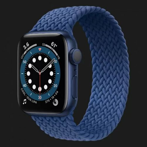 Apple Watch Series 6 40mm Blue Aluminum Case with Atlantic Blue Braided Solo Loop