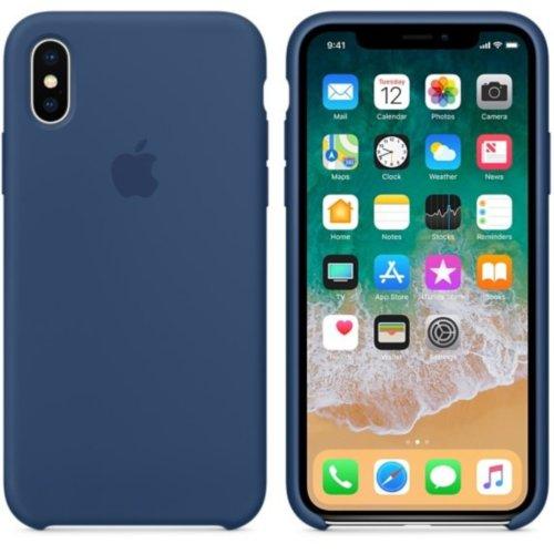 iPhone X Silicone Case - Blue Cobalt