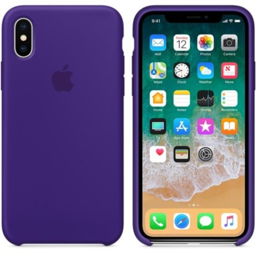 iPhone X Silicone Case - Ultra Violet
