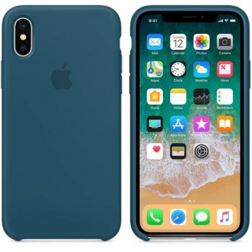 iPhone X Silicone Case - Cosmos Blue