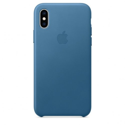iPhone XS Max Leather Case — Cape Cod Blue