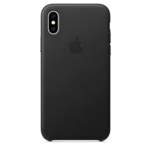 iPhone XS Max Leather Case — Black