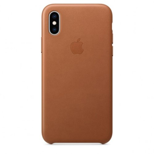 iPhone XS Max Leather Case — Saddle Brown
