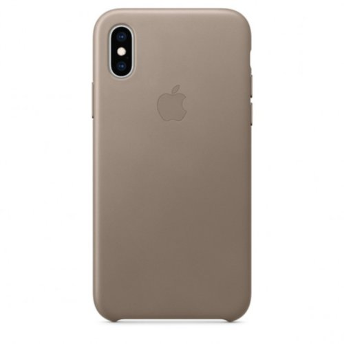iPhone XS Max Leather Case — Taupe