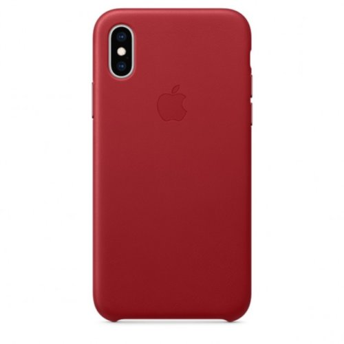 iPhone XS Max Leather Case — (PRODUCT)RED