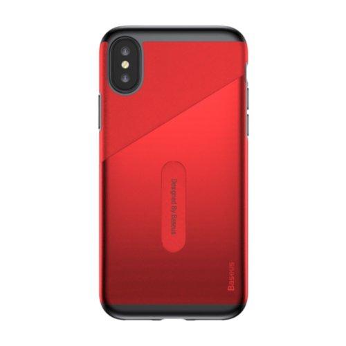 Чохол Baseus для iPhone X Card Pocket Series (Red)