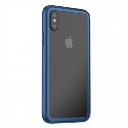Бампер Baseus для iPhone X Hard And Soft Border Series (Dark Blue)