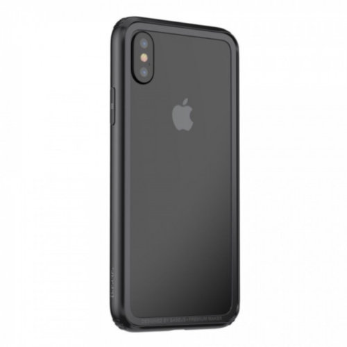 Бампер Baseus для iPhone X Hard And Soft Border Series (Black)