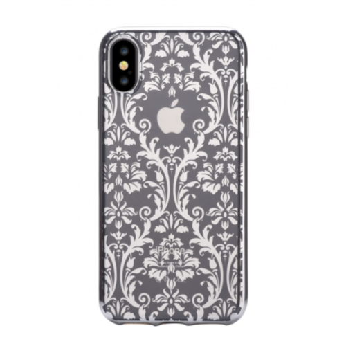 Чохол Devia для iPhone X Crystal Baroque Series (Silver)