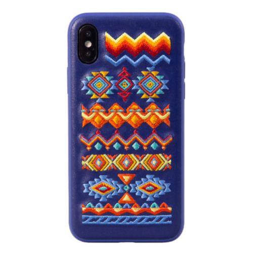Чохол Devia для iPhone X Flower Embroidery Series (Midnight Blue-Bohemian)